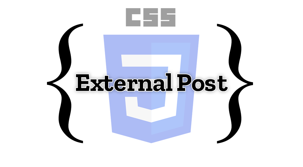 External CSS post