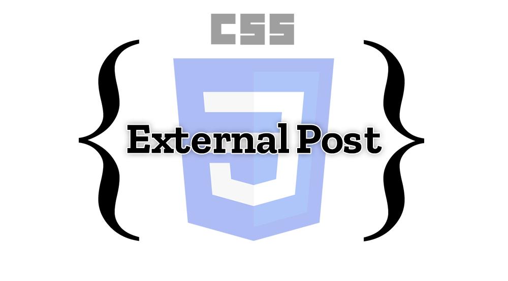 External CSS post